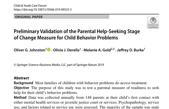 Johnston et al., 2019 - Measure Validation Paper
